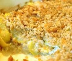 Squash Casserole 4 Reg Size Yellow Squash Cubed 1 Med Onion Diced 2 C Shredded Cheddar Cheese 8 Oz Sou Squash Casserole Recipes Recipes Summer Squash Casserole