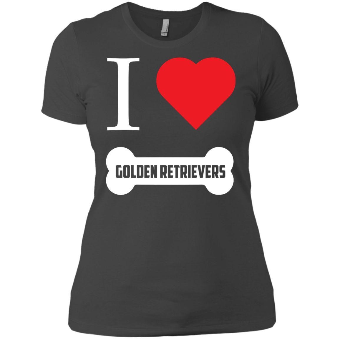 Golden Retriever- I LOVE MY GOLDEN RETRIEVER (BONE DESIGN) - Next Level Ladies' Boyfriend Tee