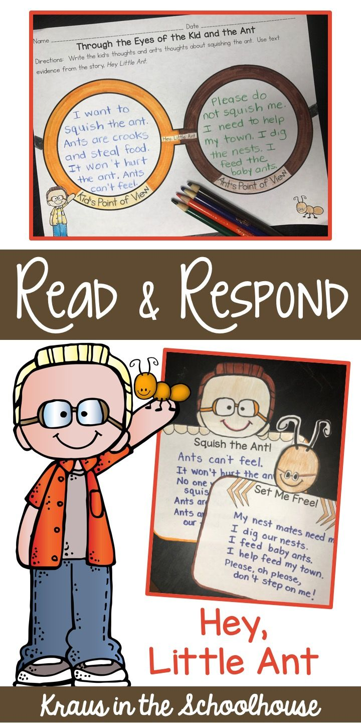 Hey little ant read and respond activities opinion writingwriting
