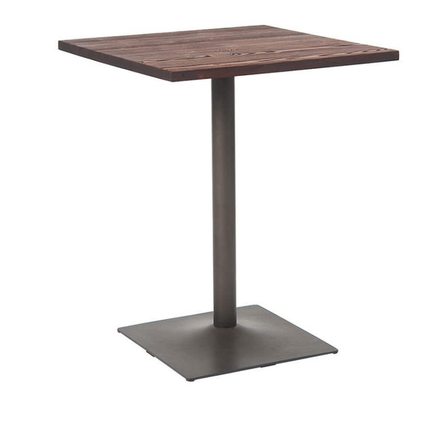 This Thick Top Modern Table Features A Modern Hand Forged Metal Base As Solid As Th Contemporary Wooden Dining
