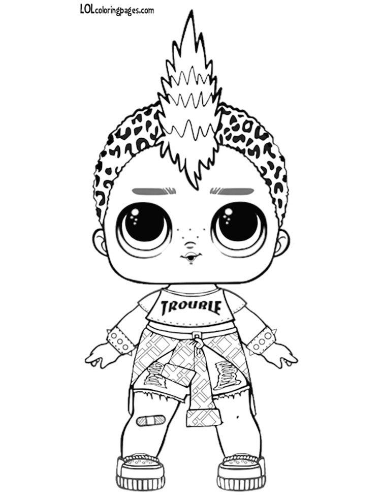 Punk Boy Lol Surprise Da Colorare Punk Boi Lol Coloring