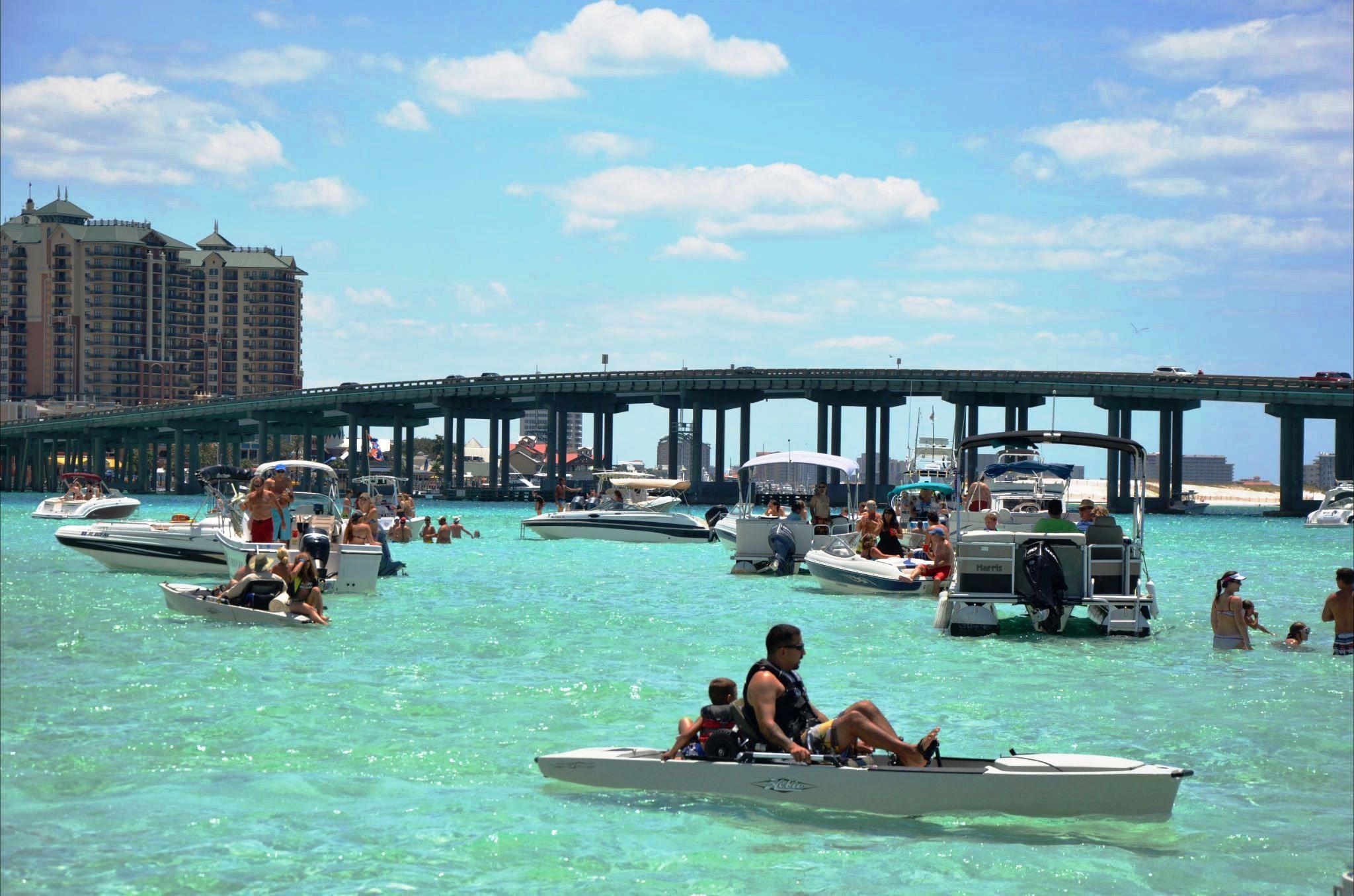 Destin attractions Destin Crab Island boat cruises