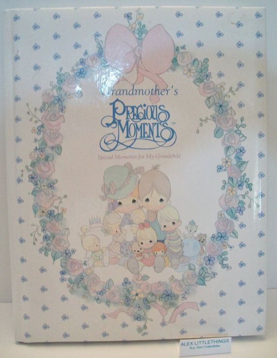 Precious Moments Grandmothers Baby Book Grandchilds 1990 Etsy Baby Book Precious Moments Vintage Friends