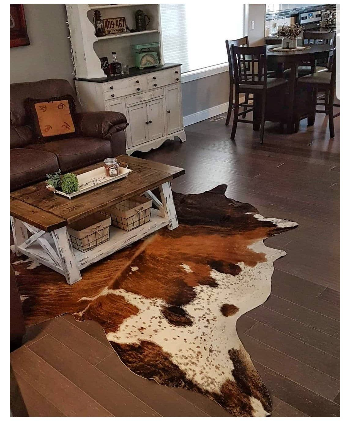 Where To Use Cowhide Rug Canada Cow Hide Rug Living Room Farmhouse Where To Use Cowhid Cowhide Rug Living Room Farm House Living Room Cow Rug Living Room