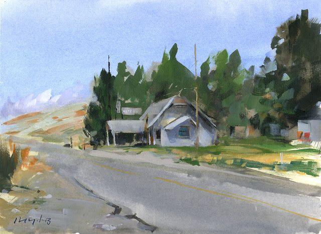 David Lloyd - Artblog9x12 Acrylic on Paper on Panel SOLD
