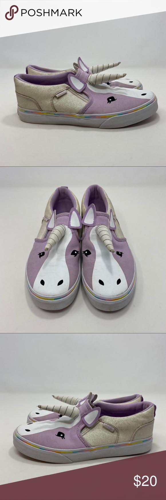 Vans Kids Purple Unicorn Slip On Shoes