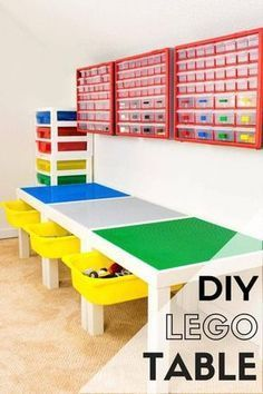 DIY Lego Table with Storage images
