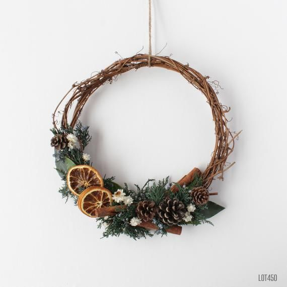 Photo of This item is unavailable: Pine Cone Grapevine Wreath with Evergreens, Cinnamon …