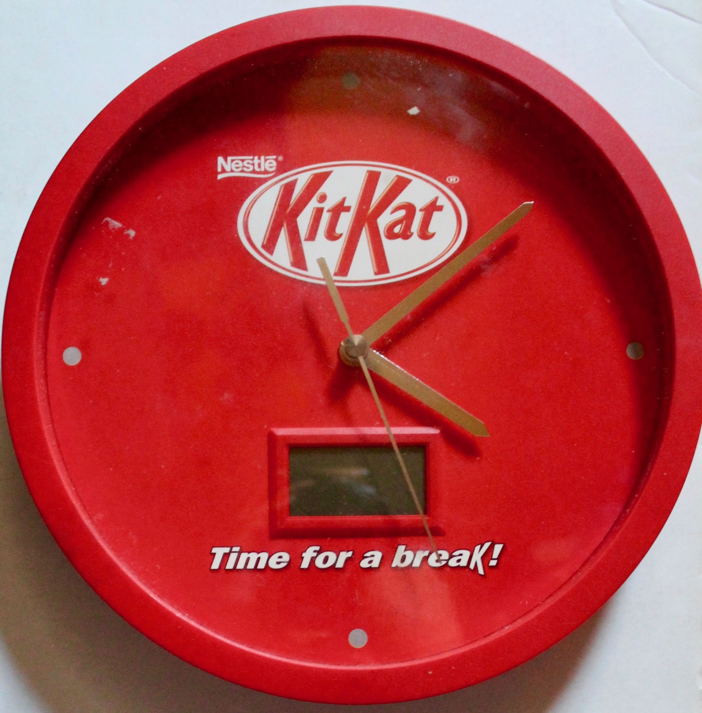 Nestle Kit Kat clock, (analogue and digital) I'm not sure