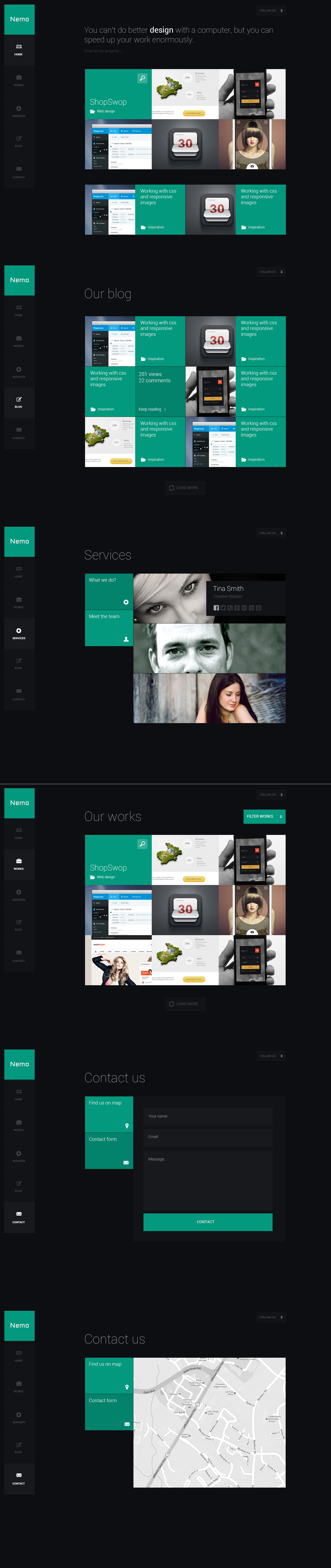 Grow Your World With Nemo Desktop Webdesign In 2020 Website Design Inspiration Layout Fun Website Design Web Design