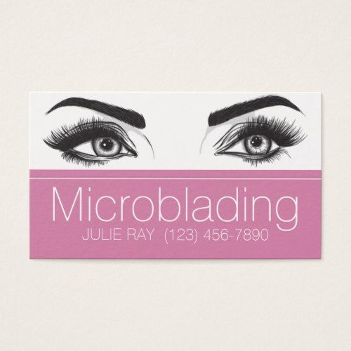 Microblading eyebrows tattoo permanent makeup business card microblading eyebrows tattoo permanent makeup business card makeup artist gifts style stylish unique custom stylist colourmoves