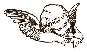 Angel Vector Szukaj W Google Czarno Białe Tatuaż