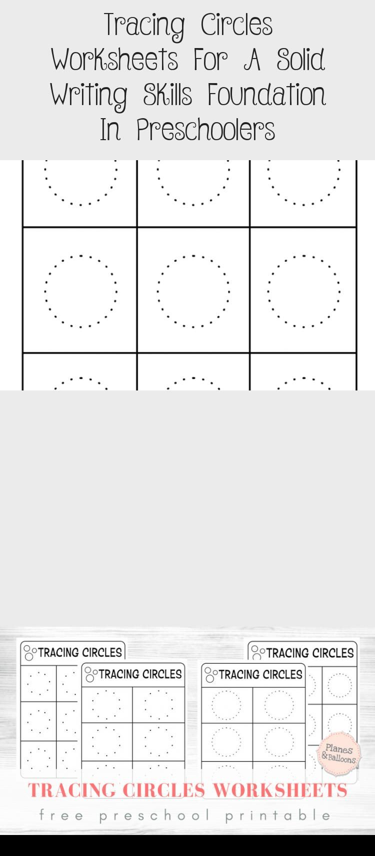 Tracing Circles For Preschool Free Printable Worksheets Get The Free File Today Toysworksheetpreschool Toyswor In 2020 Writing Skills Worksheets Learning To Write