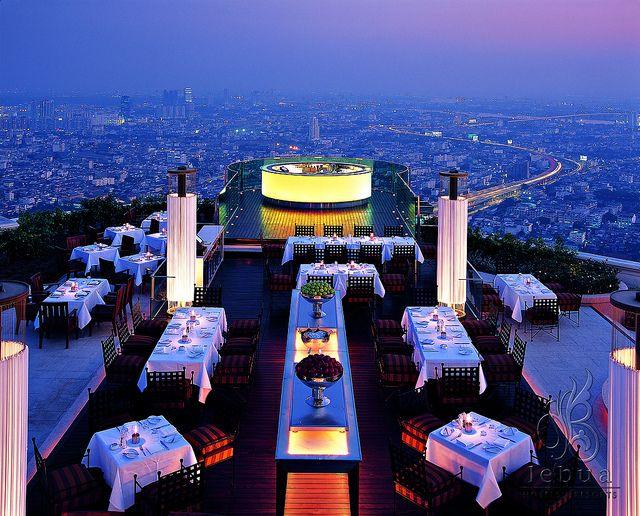 <3. Sirocco Restaurant, lebua Hotels & Resorts, Bangkok, Thailand