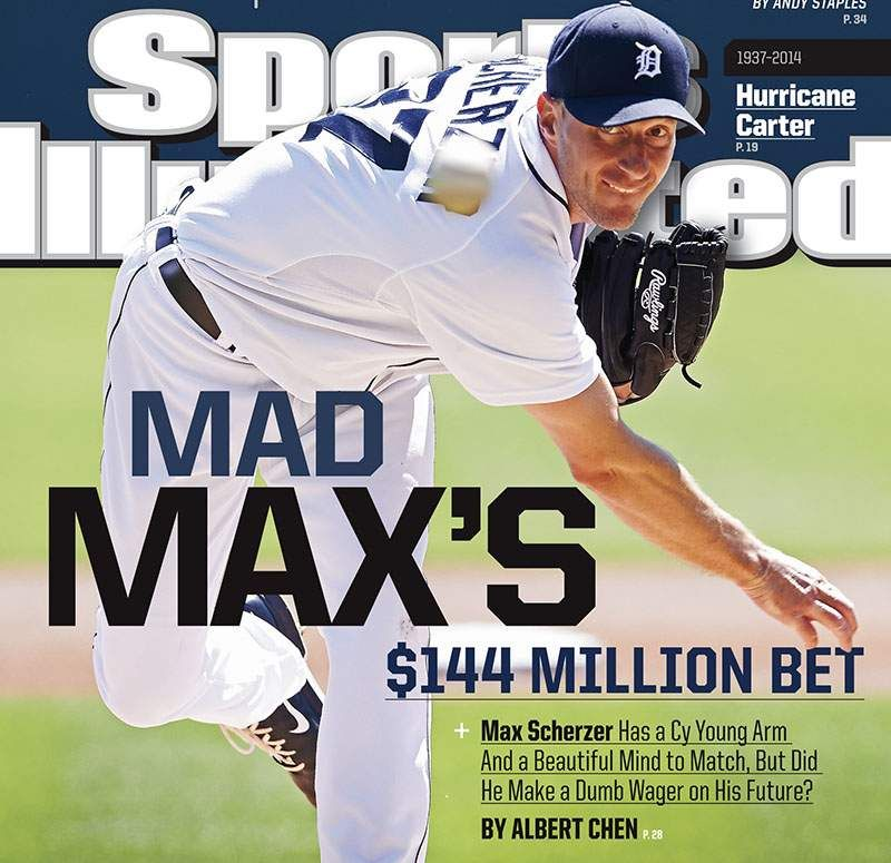 Detroit Tigers' Max Scherzer = Sports Illustrated cover