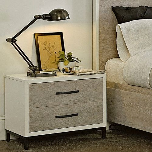 2 Drawer Nightstand with charging station. Furniture