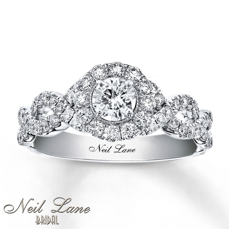 neil lane engagement ring 1 ct tw diamonds 14k white gold - White Gold Diamond Wedding Rings