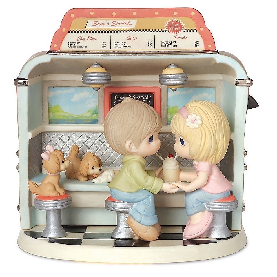 Precious moments limited edition couple in dining car
