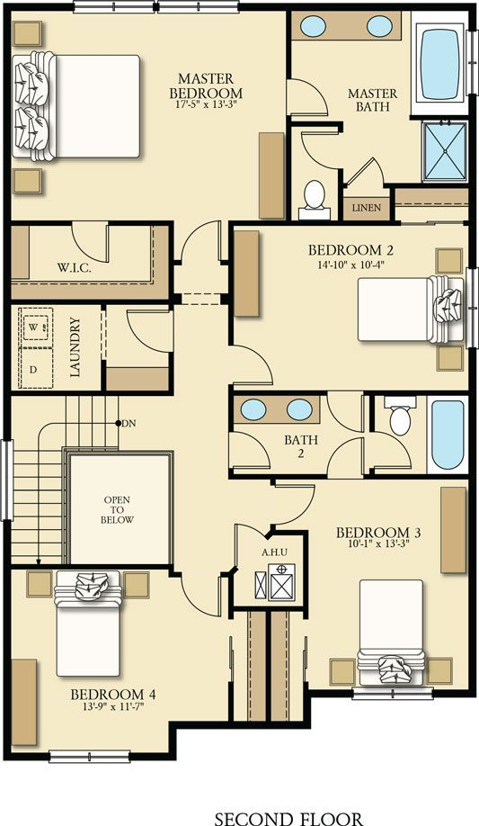 The Ashland Upstairs Has Four Bedrooms, Including The