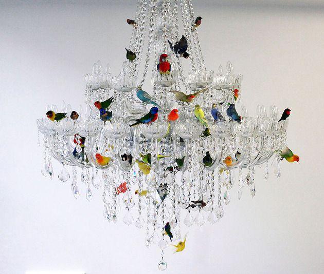 Xl Bird Chandelier By Sebastian Errazuriz Chandeliers Lighting Shades And Lights