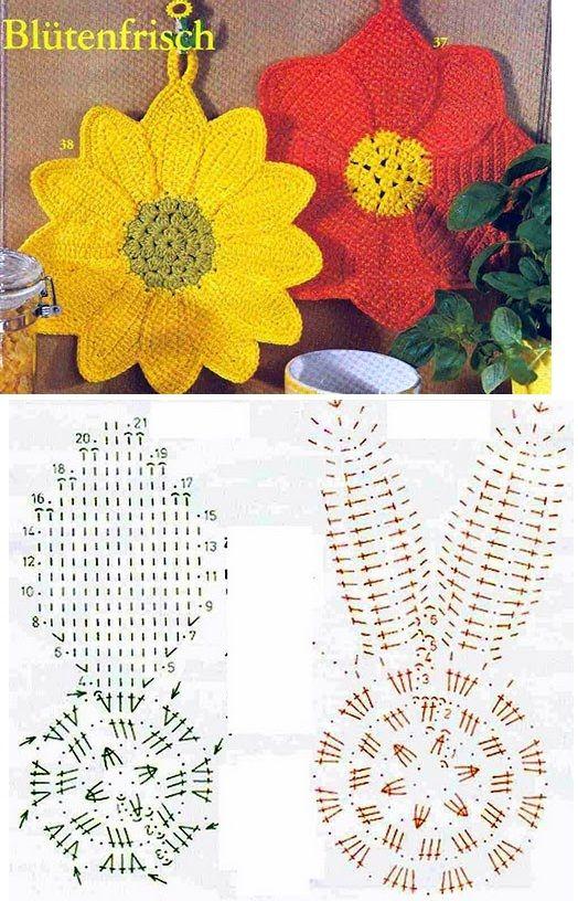 Pin de Nancy Aguirre en flores crochet | Pinterest | Cocinas, Otoño ...