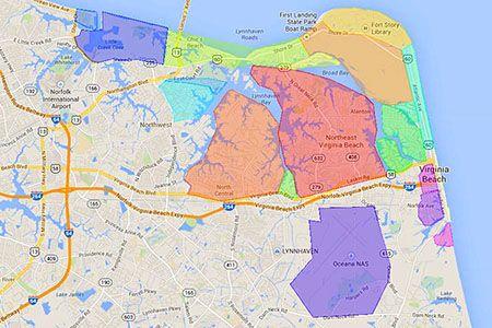 Map Of The Best Neighborhoods In Virginia Beach Virginia