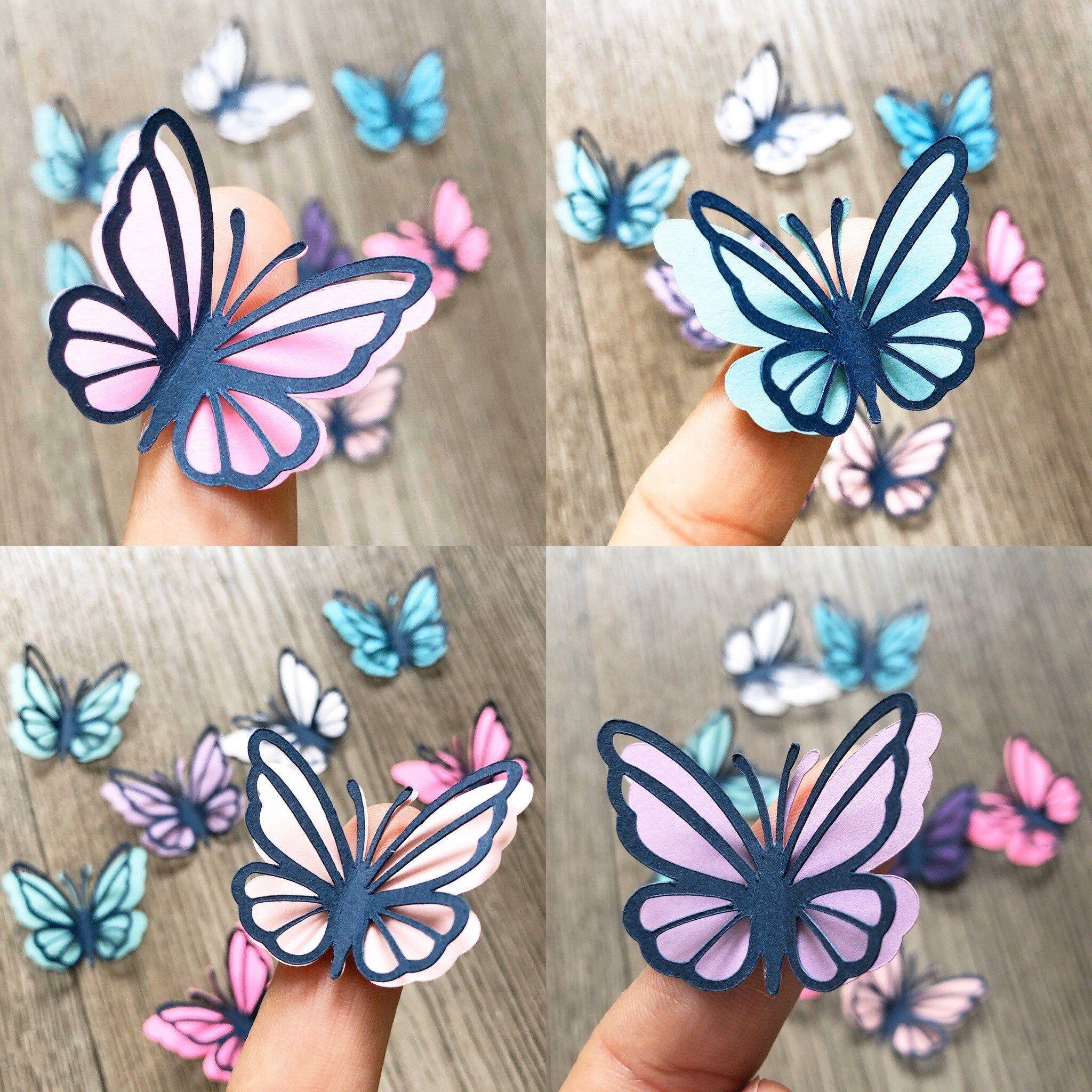 6Pcs 3D paper butterflies wall decor baby girl nursery and | Etsy in 2020 |  Paper butterflies, Butterfly wall decor, Butterfly crafts