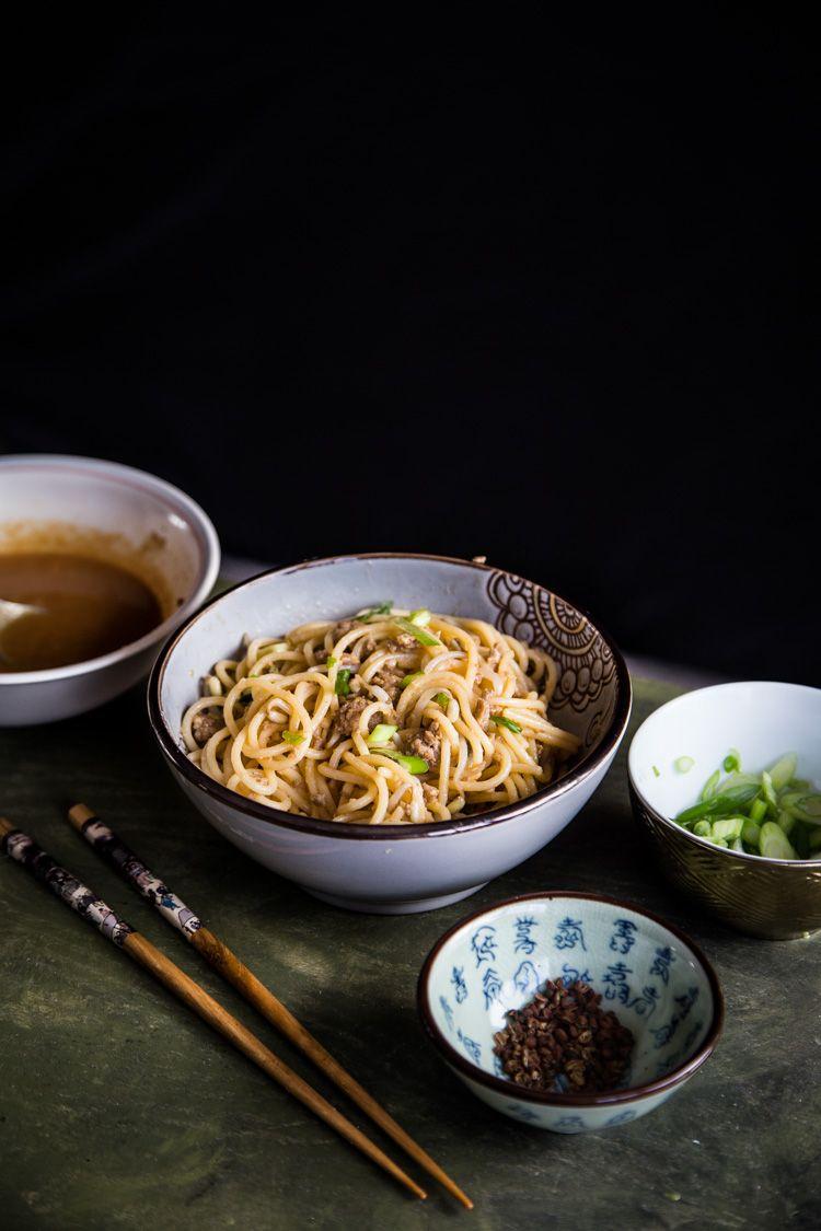 dan dan mian spicy szechuan noodles  szechuan noodles
