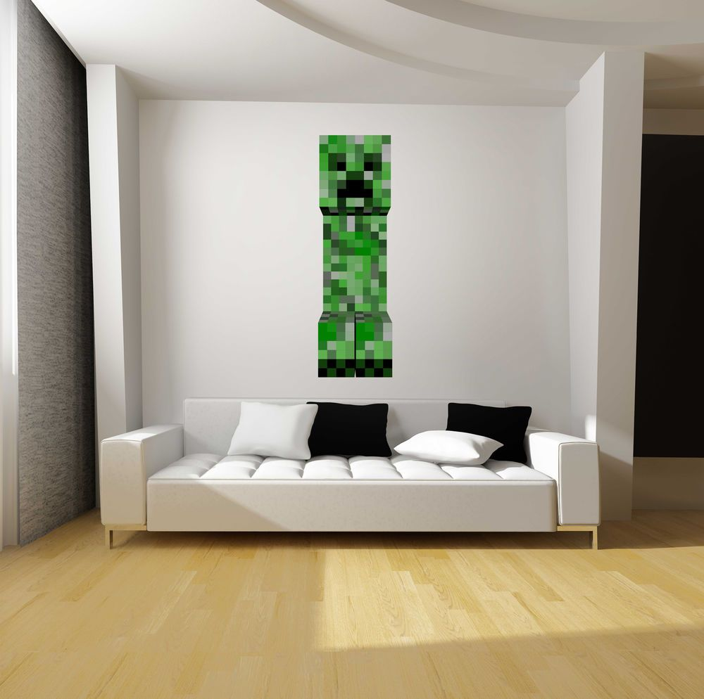 Minecraft Creeper Fathead-Style Repositionable Graphic Decal Sticker ...