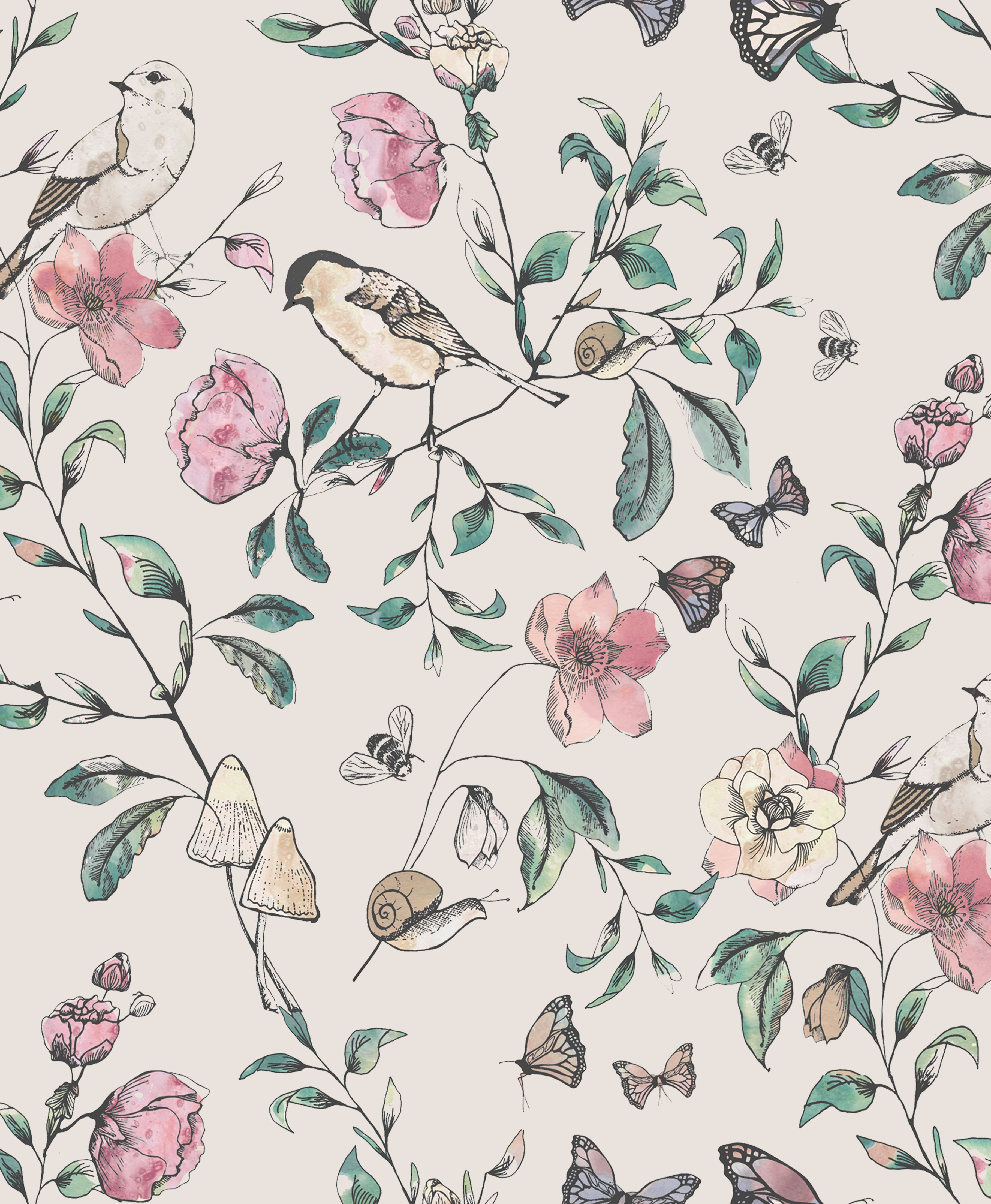 English Garden Wallpaper Designed By Katy Hackney Available At