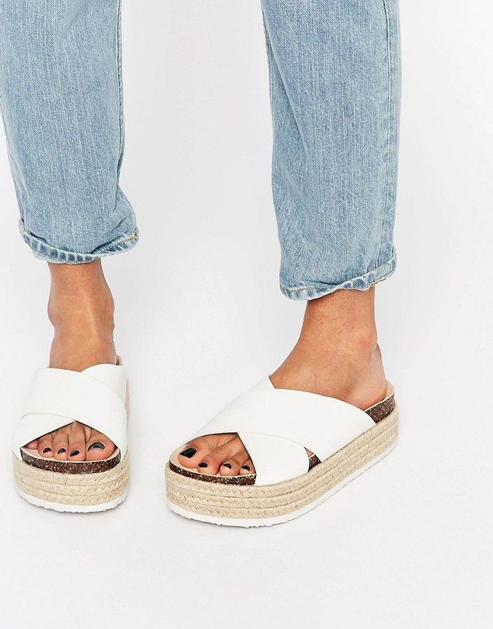 ASOS COLLECTION ASOS FURTHER ON Espadrille Mule Flatforms