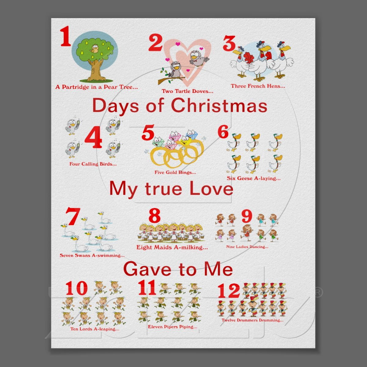 12 days of christmas poster