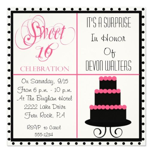 Surprise 16th Birthday Sweet 16 Party Invitation Zazzle