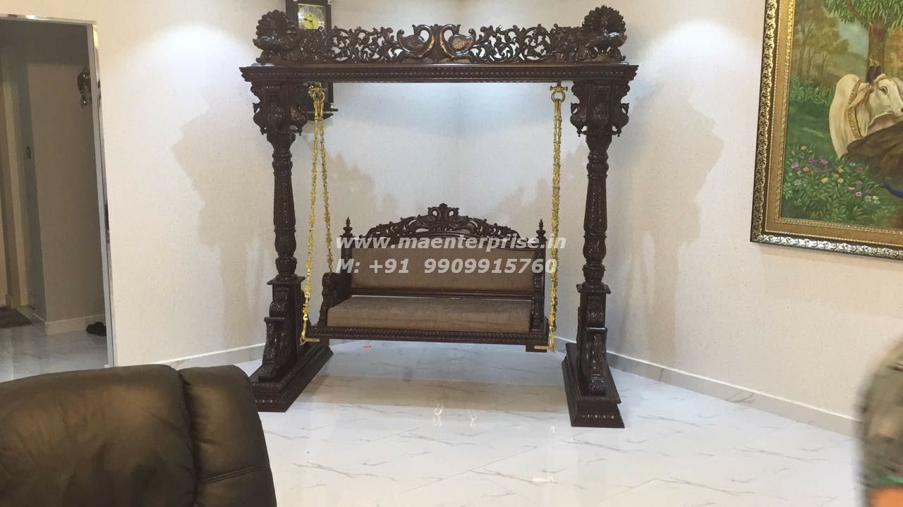 Indian Wooden Jhula Swing For Indoor Indianjhula Woodenswing Indianswing Woodenjhula Jhulaswing Tradtitionalswing In 2020 Home Swing Home Temple Indian Swing #swings #for #living #room #india