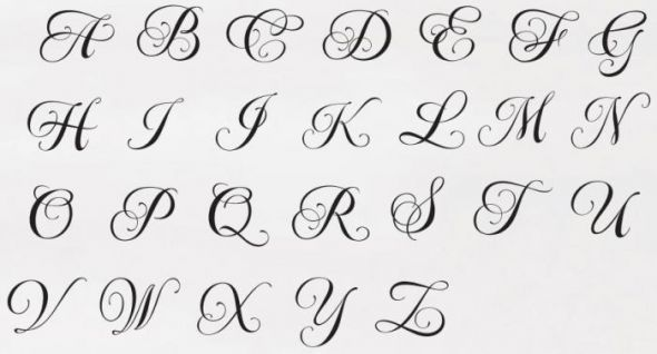 Hairstyle 6 Letters: Traditional Monogram Font