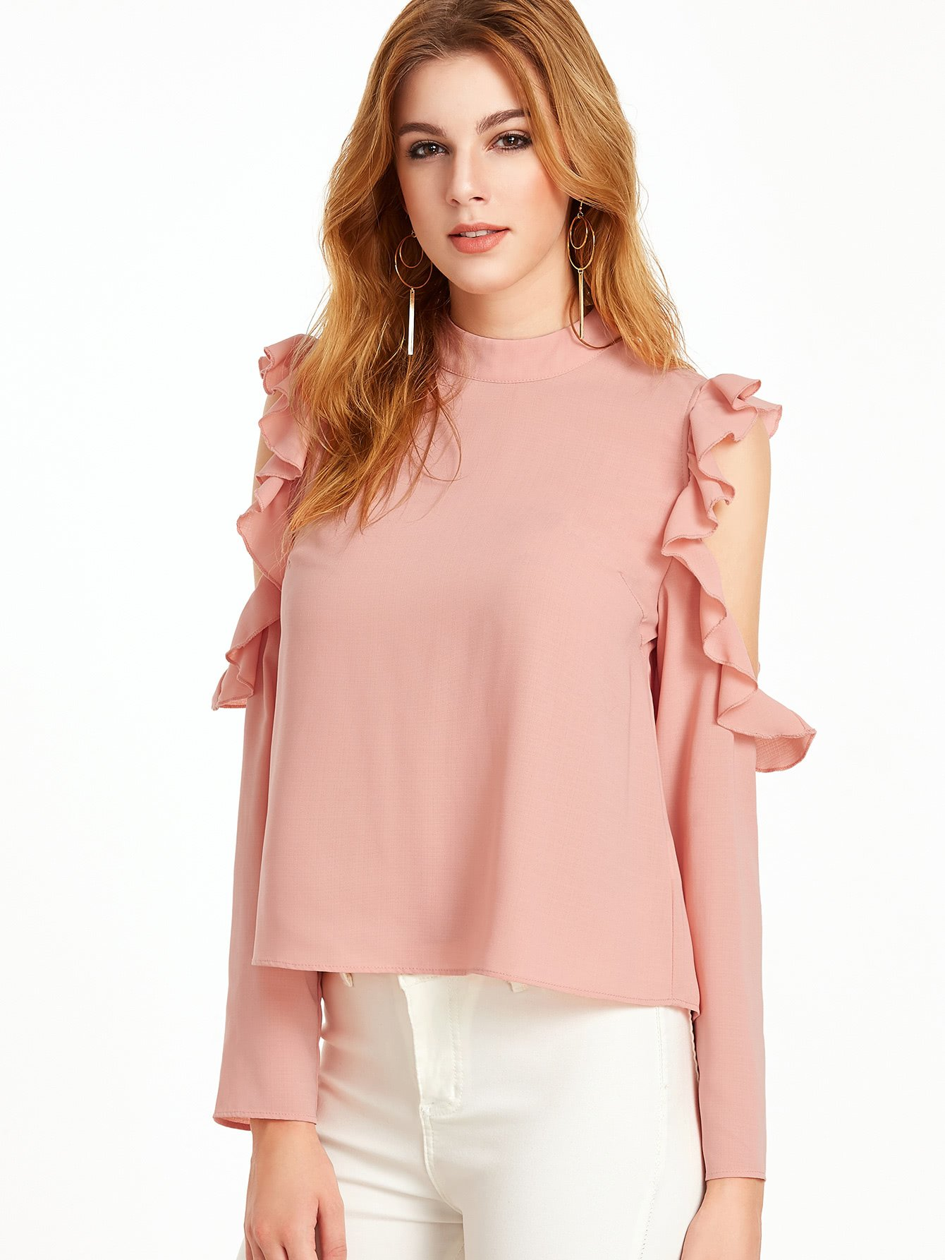 8c3181787f419 Material  100% Polyester Color  Pink Pattern Type  Plain Collar  High Neck