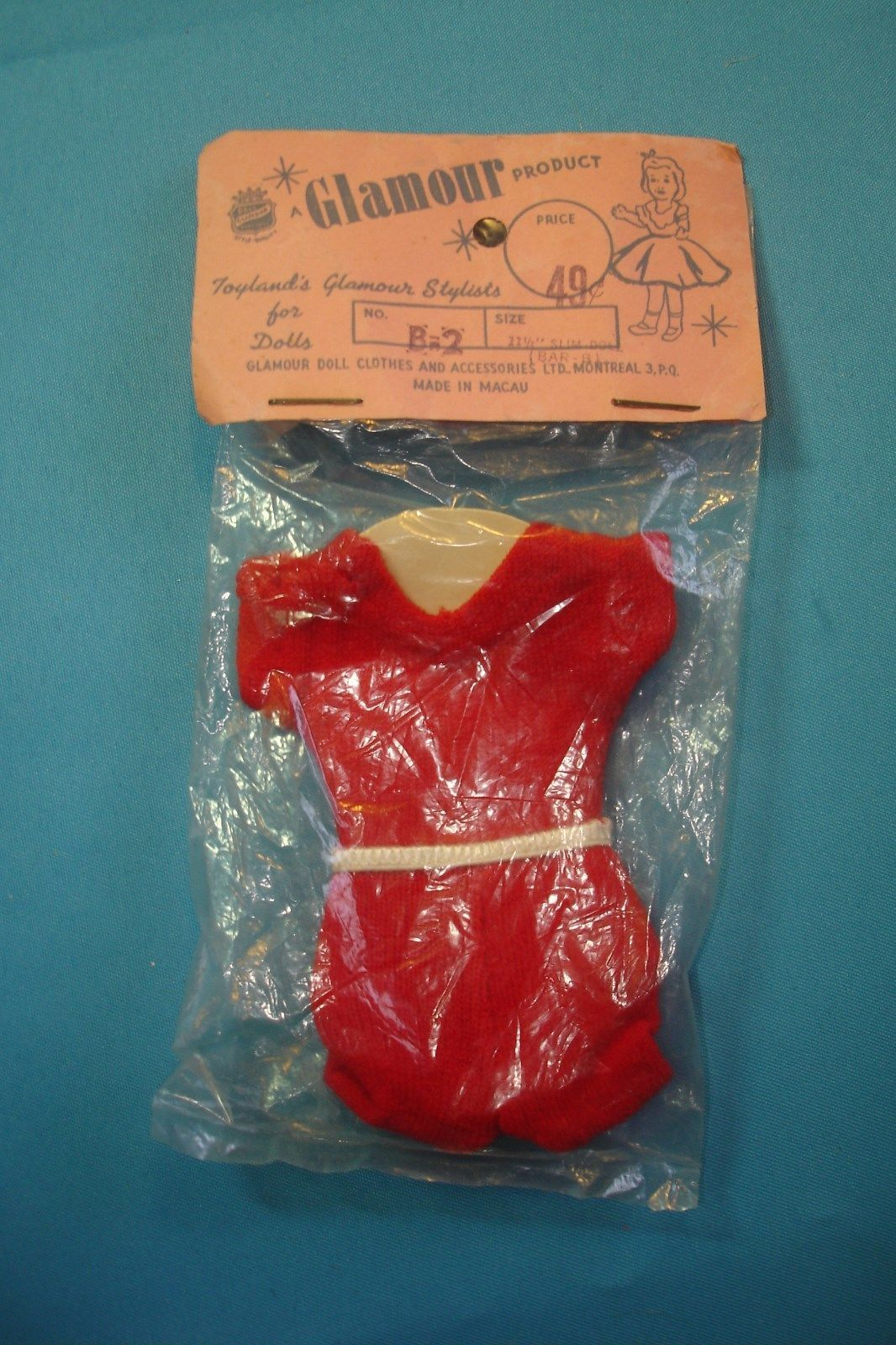 Vintage Barbie Sized Doll Clone Leotard NRFP Vintage 1963 Era | eBay