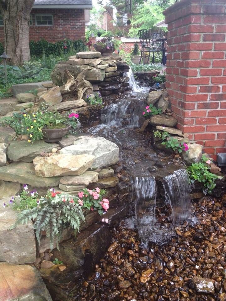 This Pondless Waterfall Was Designed Installed In Jackson Tn By Carter S Nursery Pond