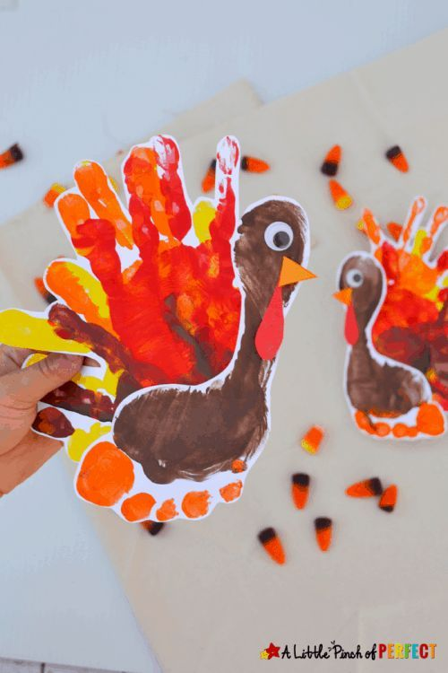Easy Thanksgiving Crafts for Kids - Easy thanksgiving crafts, Handprint crafts, Thanksgiving crafts for kids, Preschool crafts fall, Thanksgiving crafts, Pilgrim crafts - From preschool crafts to big kids, these Easy Thanksgiving Crafts for Kids will create adorable fall decor for your home  Turkeys to leaves, lanterns, harvest vegetables, pilgrims and more