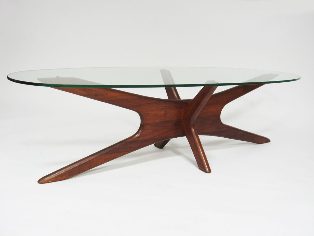 Adrian Pearsall Coffee Table With Elliptical Top By Craft Assoc 1stdibs Com Coffee Table Table Glass Coffee Table [ 768 x 1024 Pixel ]