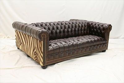 High End Furniture Tufted Double Sided Leather Sofa Leather Sofa