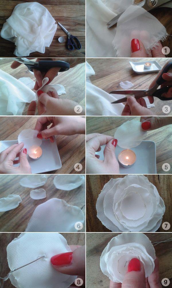 diy stoffblumen tutorial