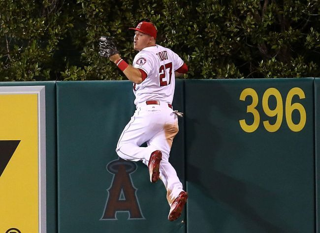 Don T Act Surprised But Mike Trout Can Dunk Like Zach Lavine And Drain Threes Like Steph Curry Mike Trout Angels Baseball Team Sports