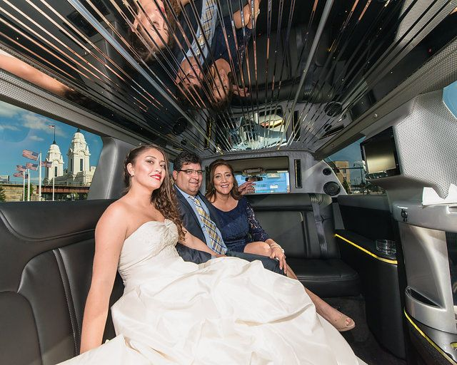 Central Mass Weddings - Limo in front of Union Station | Photo: Chelsea Creekmore
