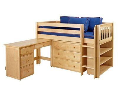 Maxtrix Box3l Low Loft Bed Bed Frames Matrix Furniture Low Loft Beds Bunk Bed With Desk Bed Desk