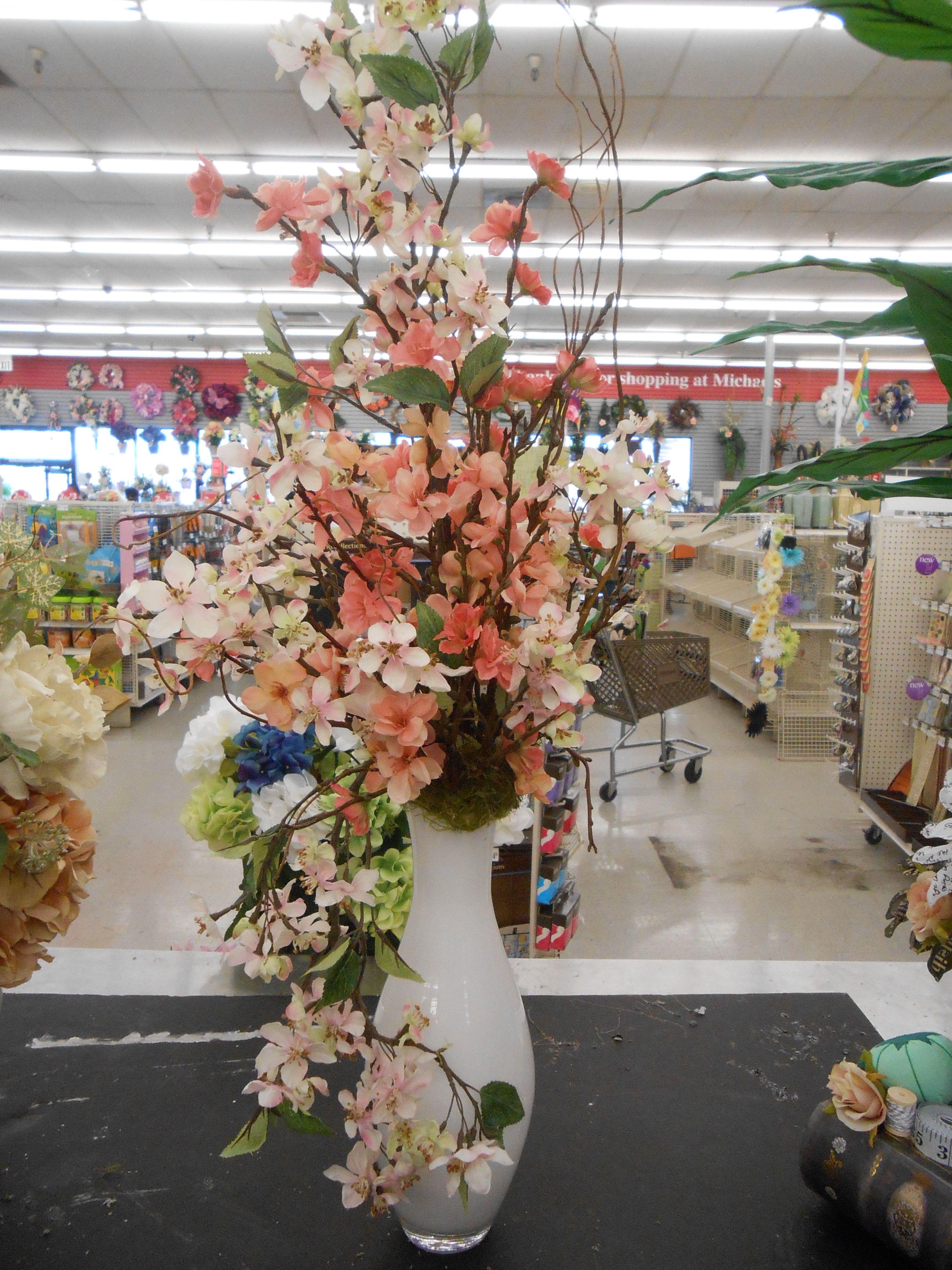 Cherry Blossom Arrangement Flower Arrangements Floral Arrangements Spring Floral