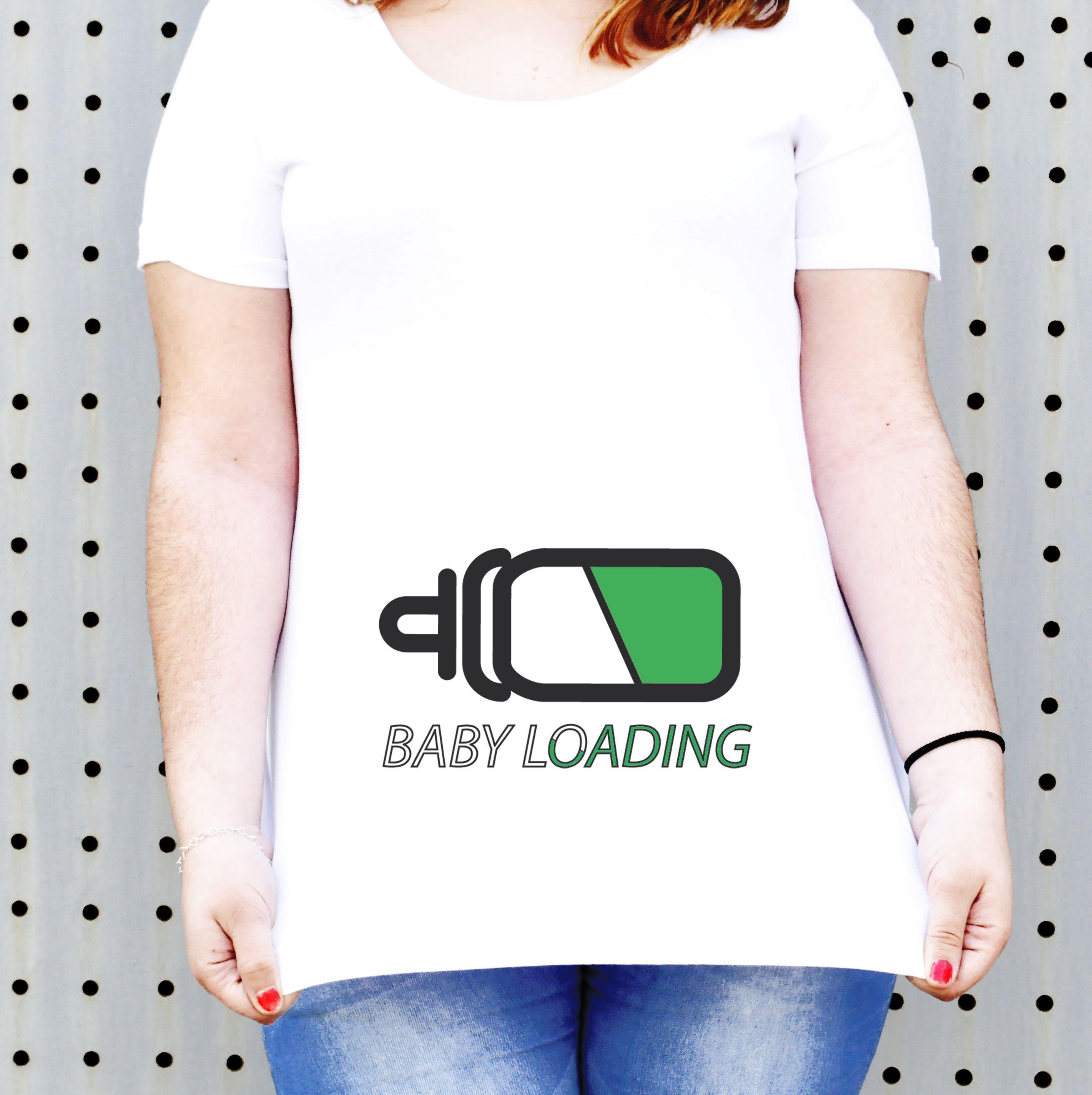 """Camiseta para embarazada """"baby loading"""", disponible en nuestra ..."""