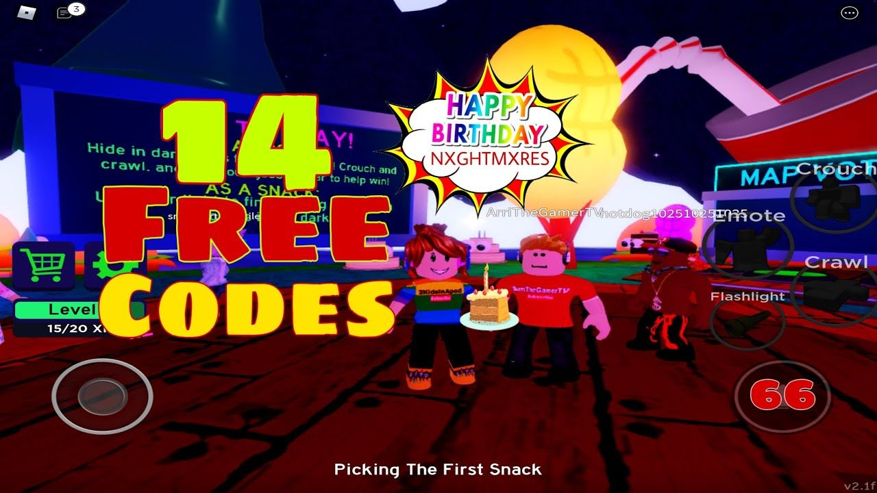 14 FREE CODES MIDNIGHT SNACK ATTACK Roblox GamePlay with