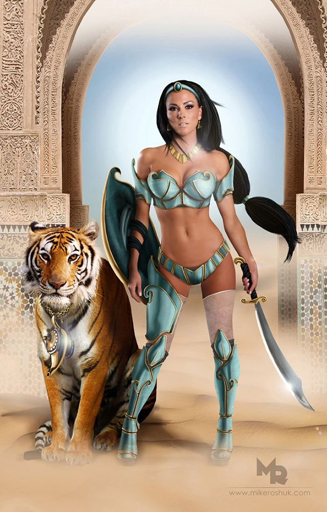 Disney Princesses Reimagined as Sexy Warriors | adrianlinks.com