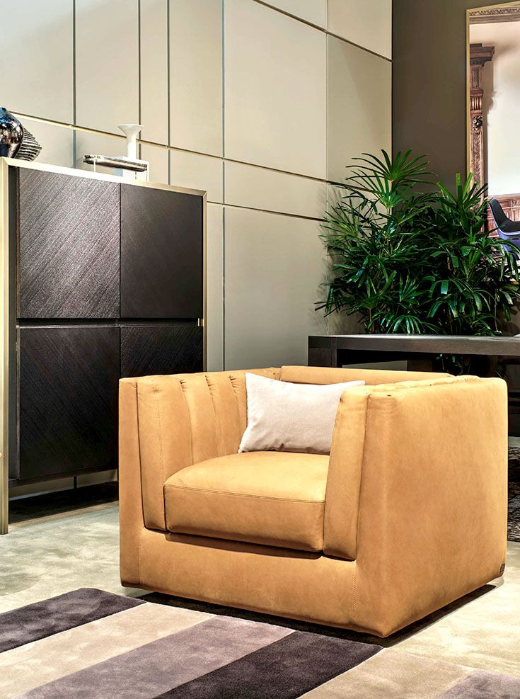 Trussardi Casa   Relief Armchair And Bridge Cabinet  Www.luxurylivinggroup.com #Trussardi #